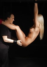 Kiara Lord has been a naughty slave girl so her master shows no mercy toward her, he will slap and..